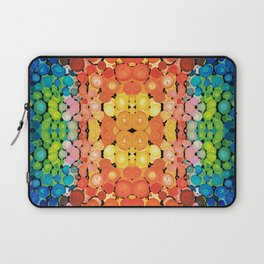 Healing Colors - Colorful Abstract Art By Sharon Cummings Laptop Sleeve