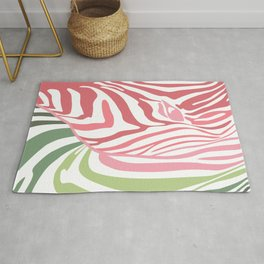 Pink And Green Zebra Portrait, Animal Photo, Large Printable Photography, Stripes Wall Art, Striped Rug