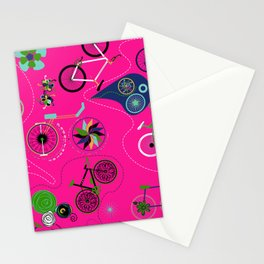 Cycledelic Pink Stationery Cards