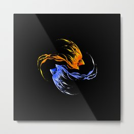 Phoenix Ice And Fire Metal Print
