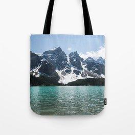 Landscape Lake Moraine Mountains Tote Bag
