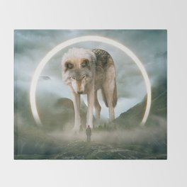 aegis | wolf Throw Blanket