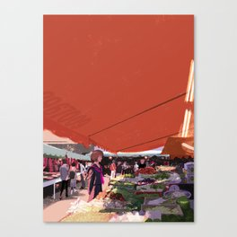 At a market in Taipei Canvas Print