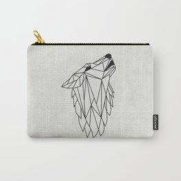 Geometric Howling Wild Wolf Carry-All Pouch