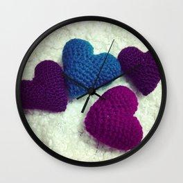 Crochet Love Wall Clock