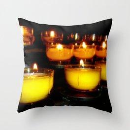 Church Candles Throw Pillow