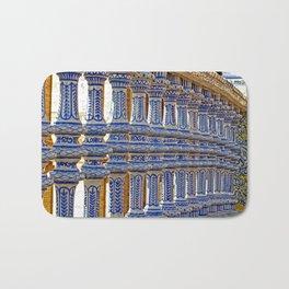 Plaça de España - Seville, Spain Bath Mat