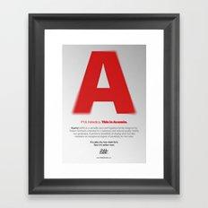 This is Acumin Framed Art Print