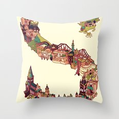 S is for Scotland Throw Pillow