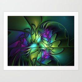 Colorful And Abstract Fractal Fantasy Art Print