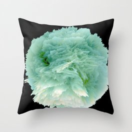 Fantasy Sea Anemone in Green Throw Pillow