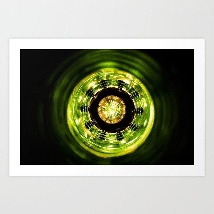 Green Center Art Print
