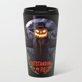 outstanding in my field (night) Travel Mug