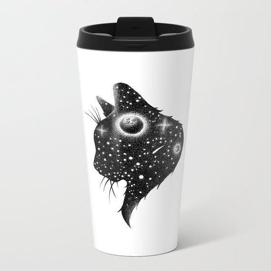 SPACE CAT Metal Travel Mug
