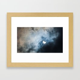 Cloudy Solar Eclipse March 2015 Framed Art Print