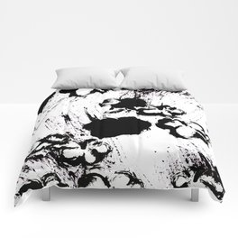 Black and whiteflorals 1.4 Comforters