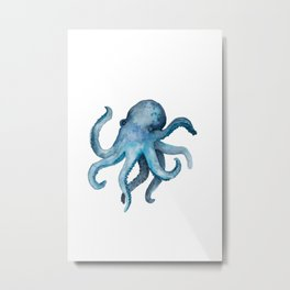 Blink the Octopus Metal Print