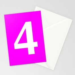 4 (WHITE & FUCHSIA NUMBERS) Stationery Cards