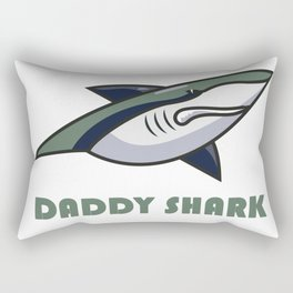 Daddy shark Rectangular Pillow