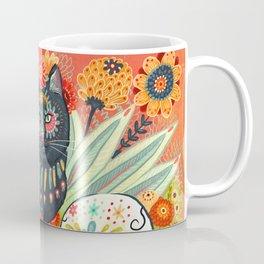 Dia De Los Muertos Cat Coffee Mug