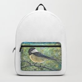 Watercolor Chickadee Backpack