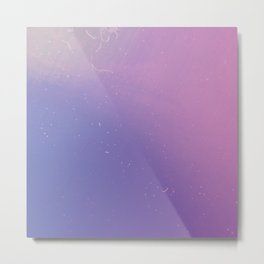 Faded Vintage Pink and Purple Ombre Galaxy Metal Print