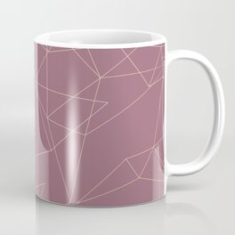 Rose Gold Geometrical Print on Dusty Rose Coffee Mug