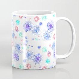 Blue fire works Coffee Mug