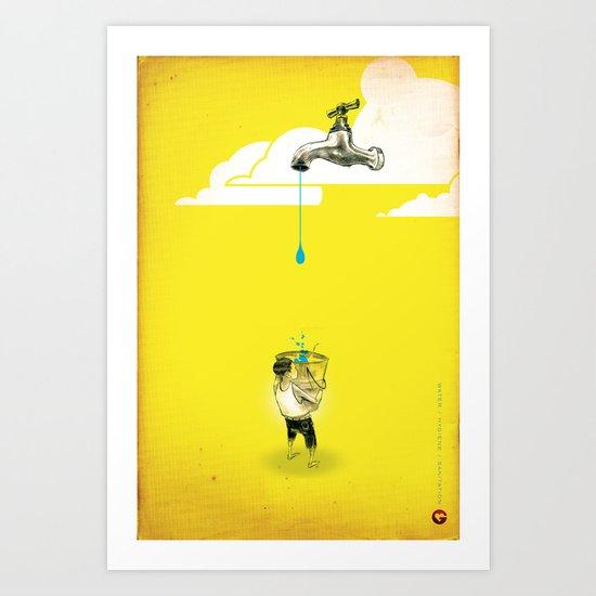 "Glue Network Print Series ""Water / Hygiene / Sanitation"" Art Print"