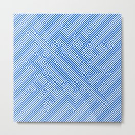 Optical Chaos 05 blue Metal Print