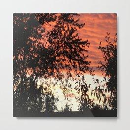 Burning Sky Sunset Metal Print