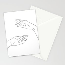 Hands line drawing - Bel Stationery Cards