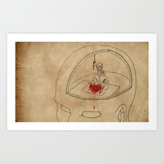 I Live Like a Hermit in My Own Head Art Print