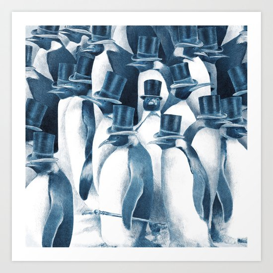 A Gathering of Gentlemen (square format) Art Print