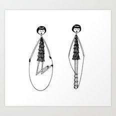 Unlike Eloise, Ramona had mastered the jump rope. Art Print