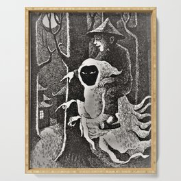 Spook illustration Serving Tray