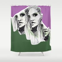 poison ivy Shower Curtains featuring Ivy by Anwar B