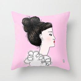 cuty pink Throw Pillow