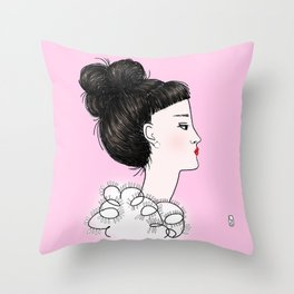 cuty pink Throw Pillow