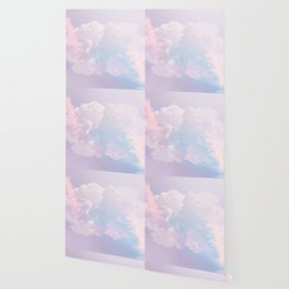 Whimsical Pastel Candy Sky #surreal #society6 Wallpaper