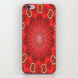 Shades of Red Bold Kaleidoscope Pattern iPhone Skin