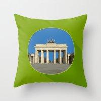 berlin Throw Pillows featuring Berlin by Matthias Hennig