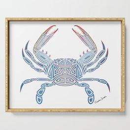 Tribal Blue Crab Serving Tray