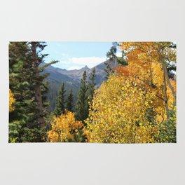 Autumn in the Rocky Mountains at Diamond Lake Trail, Eldora Colorado Rug