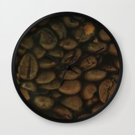 Coffee pattern, fine art photo, Coffeehouse, shops, bar & restaurants, still life, interior design Wall Clock