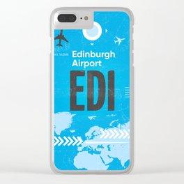 EDI Edinburgh airport code Clear iPhone Case
