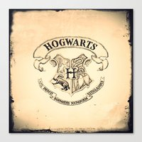 hogwarts Canvas Prints featuring HOGWARTS by ''CVogiatzi.