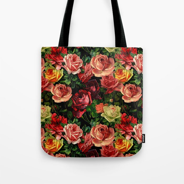 Vintage & Shabby-chic - floral roses flowers rose Tote Bag