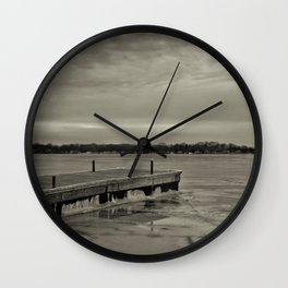 Frozen Dock Wall Clock