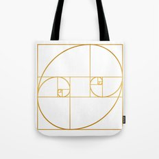 Golden Oval Tote Bag